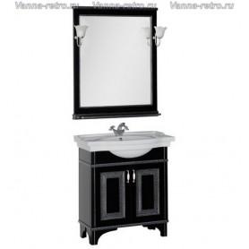 Мебель для ванной Акванет Валенса 80 (черный, декор краколет