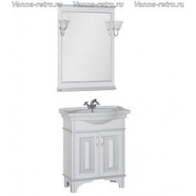 Мебель для ванной Акванет Валенса 80 (белый, декор краколет
