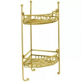 Полка решетка ажурная двойная Migliore ML.COM 50.212 золото