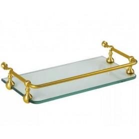 Полка стеклянная 30 см Migliore ML.COM 50.180 золото