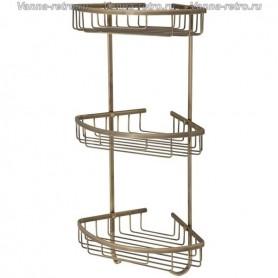 Полка решетка 3-я Veragio Gifortes VR.GFT-9067.BR ➦ Vanna-retro.ru