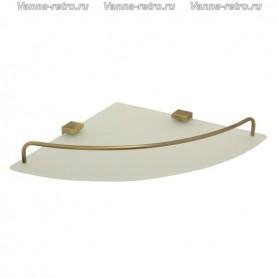 Полка стеклянная угловая Veragio Gifortes VR.GFT-9031.BR ➦ Vanna-retro.ru