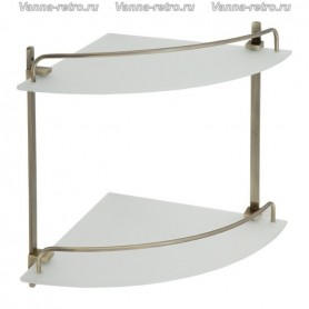 Полка стеклянная угловая 2-ая Veragio Gifortes VR.GFT-9032.BR ➦ Vanna-retro.ru