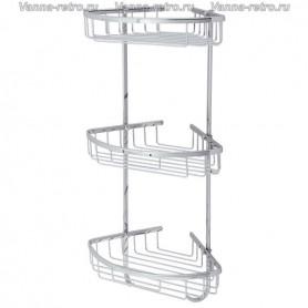 Полка решетка угловая 3-ая Veragio Gifortes VR.GFT-9067.CR ➦ Vanna-retro.ru