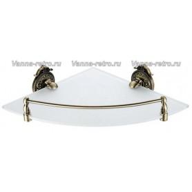 Полка стеклянная угловая Hayta Gabriel Classic Bronze 13910-1 ➦ Vanna-retro.ru