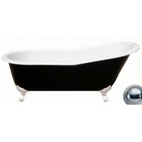 Чугунная ванна Magliezza Gracia Black (ножки хром) 170х76 ➦ Vanna-retro.ru
