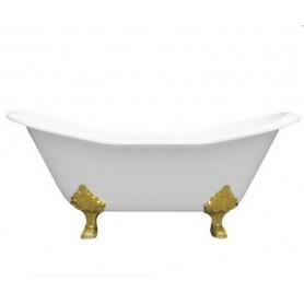 Чугунная ванна Magliezza  Julietta (ножки золото) 183х78