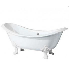 Чугунная ванна Magliezza  Julietta (ножки белые) 183х78