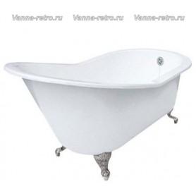 Чугунная ванна Magliezza Beatrice (ножки хром) 153х76,5