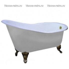 Чугунная ванна Magliezza Beatrice (ножки бронза) 153х76,5