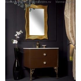 Мебель для ванной Armadi Art NeoArt 110 Dark Brown с раковиной Solid Glass
