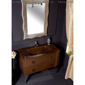 Мебель для ванной Armadi Art NeoArt 100 Dark Brown с стеклянной раковиной