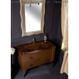 Мебель для ванной Armadi Art NeoArt 110 Dark Brown с стеклянной раковиной