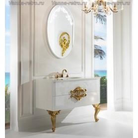Мебель для ванной Armadi Art NeoArt 110 White с стеклянной раковиной