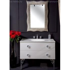 Мебель для ванной Armadi Art NeoArt 110 White с раковиной Solid Glass ➦