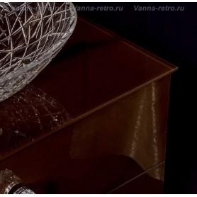 Столешница Armadi Art NeoArt 100 Choco (стекло) ➦ Vanna-retro.ru