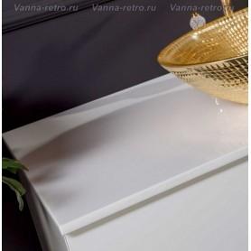 Столешница Armadi Art NeoArt 100 Solid Glass (стекло с мраморной крошкой) (белый) ➦
