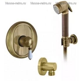 Гигиенический набор скрытого монтажа Nicolazzi 76 бронза