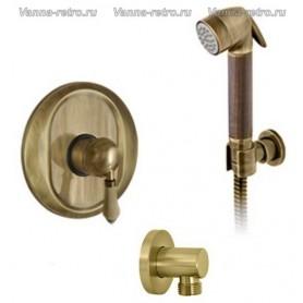 Гигиенический набор скрытого монтажа Nicolazzi 75 бронза ➦ Vanna-retro.ru