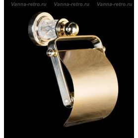 Бумагодержатель Boheme Murano Crystal 10901-CRST-G золото ➦ Vanna-retro.ru