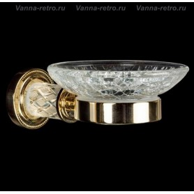 Мыльница Boheme Murano Crystal 10903-CRST-G золото ➦ Vanna-retro.ru
