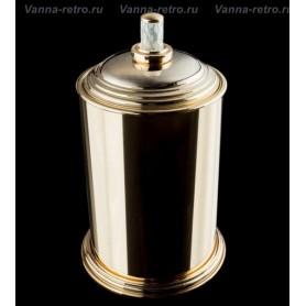 Ведро для мусора Boheme Murano Crystal 10907-CRST-G золото ➦ Vanna-retro.ru