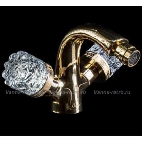 Смеситель для биде Boheme Crystal 296-CRST (золото) ➦ Vanna-retro.ru