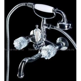 Смеситель для ванны Boheme Crystal 273-CRST (хром)