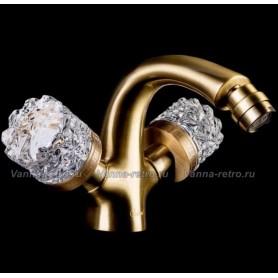 Смеситель для биде Boheme Crystal 316-CRST (бронза)