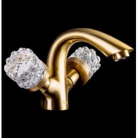 Смеситель для раковины Boheme Crystal 311-CRST (бронза)