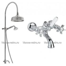 Душевая система для ванны Nicolazzi 5712WS20/1400CR18 (лейка 20 см) хром ➦