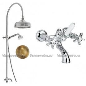 Душевая система для ванны Nicolazzi 5712WS20/1400BZ18 (лейка 20 см) бронза