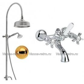 Душевая система для ванны Nicolazzi 5712WS30/1400GB18 (лейка 30 см) золото