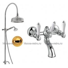 Душевая система для ванны Nicolazzi 5712WS30/1400GB78 (лейка 30 см) золото ➦
