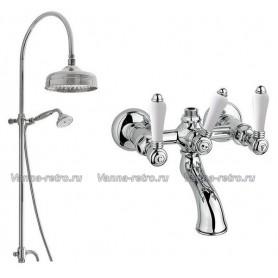 Душевая система для ванны Nicolazzi 5712WS30/1400CR78 (лейка 30 см) хром ➦