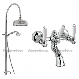 Душевая система для ванны Nicolazzi 5712WS20/1400CR78 (лейка 20 см) хром