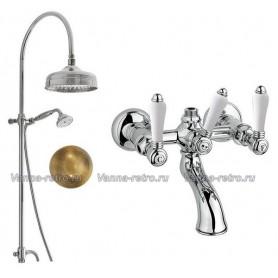 Душевая система для ванны Nicolazzi 5712WS20/1400BZ78 (лейка 20 см) бронза ➦