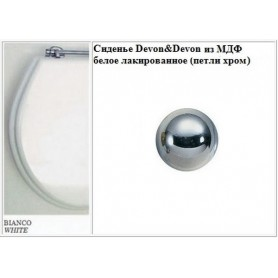Сиденье Devon Devon Blues 2IBSEBIAROCR из МДФ белое лакированное (петли хром)