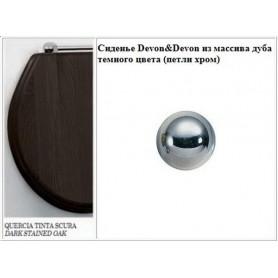 Сиденье Devon Devon Blues IBSEWENROCR из массива дуба темного цвета (петли хром) ➦
