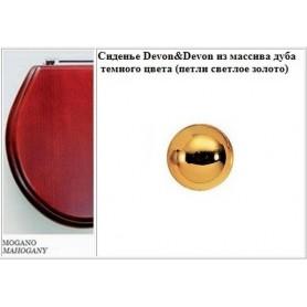 Сиденье Devon Devon Blues 2IBSEMDFRO из МДФ цвета красного дерева (петли светлое