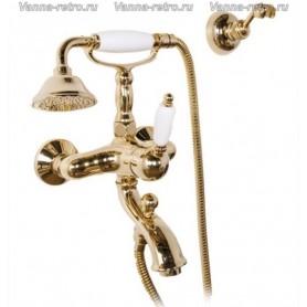Смеситель для ванны и душа Gattoni Orta 2700 в цвете золото