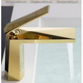 Смеситель для раковины Boheme Venturo 381 золото