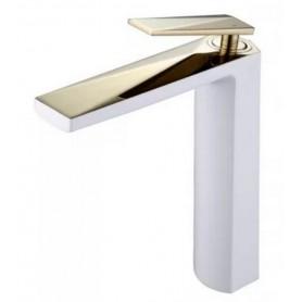 Смеситель для раковины Boheme Venturo 382-W белый с золотом