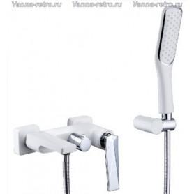 Смеситель для ванны Boheme Venturo 373-W белый с хромом ➦ Vanna-retro.ru