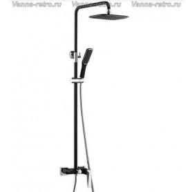 Душевая система Boheme Venturo 378-B черный/хром ➦ Vanna-retro.ru