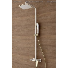 Душевая система Boheme Venturo 388-W белый/золото