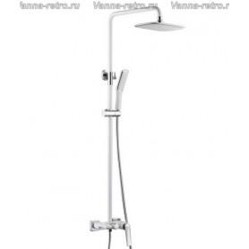 Душевая система Boheme Venturo 378-W белый/хром ➦ Vanna-retro.ru