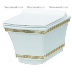 Подвесной унитаз Boheme Hermitage 951-G (декор золото) ➦ Vanna-retro.ru