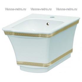 Подвесное биде Boheme Hermitage 953-G (декор золото) ➦ Vanna-retro.ru