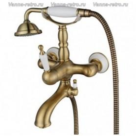 Смеситель для ванны Aksy Bagno Faenza 401 бронза ➦ Vanna-retro.ru